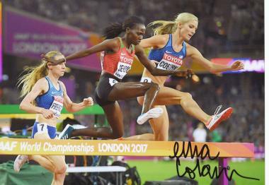 Emma Coburn  USA  3000m Hindernis  1.WM 2017  Leichtathletik original signiert
