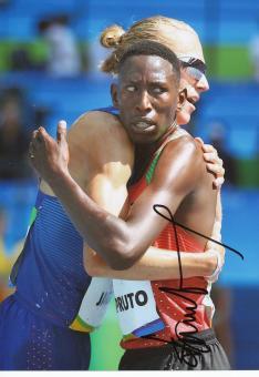 Conselus kipruto  Kenia  3000m Hindernis  1.OS  2016  Leichtathletik original signiert