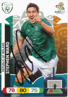 Stephen Ward   Irland  EM 2012 Panini Adrenalyn Card - 10111