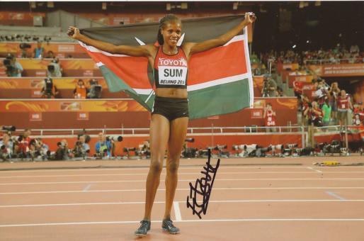 Eunice Jepkoech Sum  Kenia  800m  3.WM 2015  Leichtathletik Foto original signiert