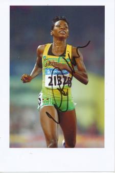 Melaine Walker  Jamaika  400m Hürden 1.OS 2008  Leichtathletik Foto original signiert