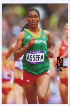 Sofia Assefa  Äthiopien  3000m Hindernis  2.OS 2012  Leichtathletik Foto original signiert