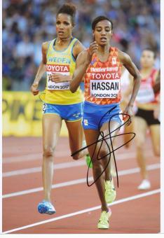 Sifan Hassan  NED  5000m  3.WM 2017  Leichtathletik original signiert
