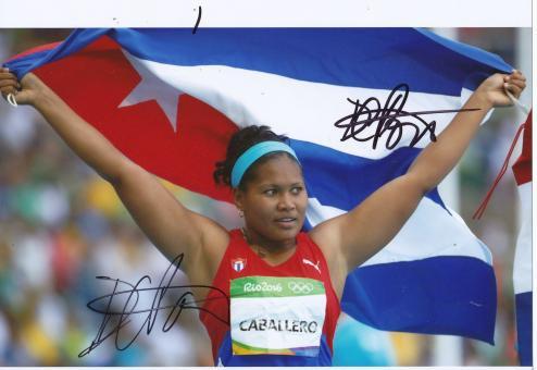 Denia Caballero  Kuba  Diskus  3.OS  2016  Leichtathletik original signiert