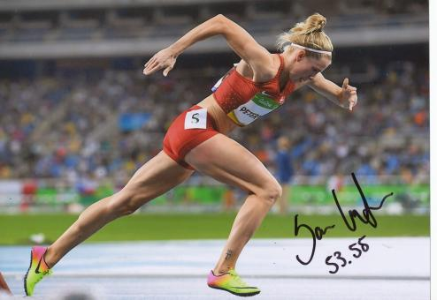 Sara Slott Petersen  Dänemark  400m Hürden  2.OS  2016  Leichtathletik original signiert