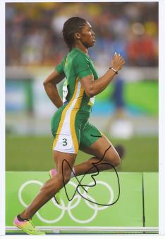 Caster Semenya  RSA  800m  1.OS  2016  Leichtathletik original signiert