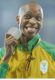Luvo Manyonga  RSA  Weitsprung  2.OS  2016  Leichtathletik original signiert
