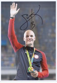 Sam Kendricks  USA  Stabhochsprung  3.OS  2016  Leichtathletik original signiert