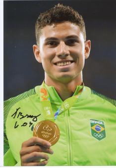 Thiago Braz da Silva  Brasilien  Stabhochsprung  1.OS  2016  Leichtathletik original signiert