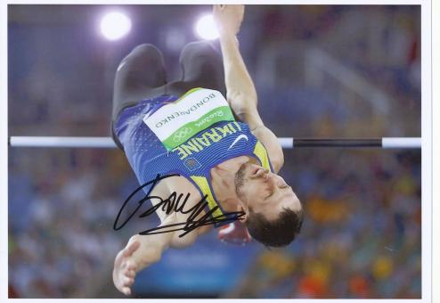 Bohdan Bondarenko  Ukraine  Hochsprung  3.OS  2016  Leichtathletik original signiert