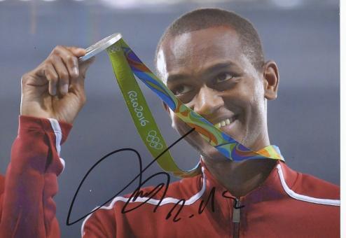 Mutaz Essa Barshim  Katar  Hochsprung  2.OS  2016  Leichtathletik original signiert