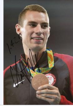 Clayton Murphy  USA  800m  3.OS  2016  Leichtathletik original signiert