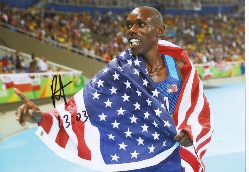 Paul Kipkemoi Chelimo  USA 5000m  2.OS  2016  Leichtathletik original signiert