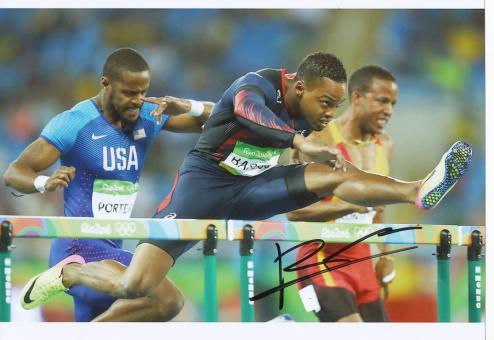 Dimitri Bascou  Frankreich 110m Hürden  3.OS  2016  Leichtathletik original signiert