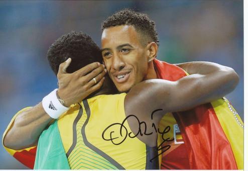 Orlando Ortega  Spanien 110m Hürden  2.OS  2016  Leichtathletik original signiert