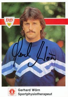 Gerhard Wörn  1989/1990   VFB Stuttgart  Fußball Autogrammkarte original signiert
