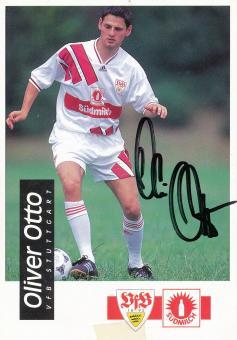 Oliver Otto 1994/1995   VFB Stuttgart  Fußball Autogrammkarte original signiert