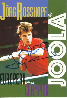 Jörg Roßkopf  Tischtennis  Autogrammkarte  original signiert