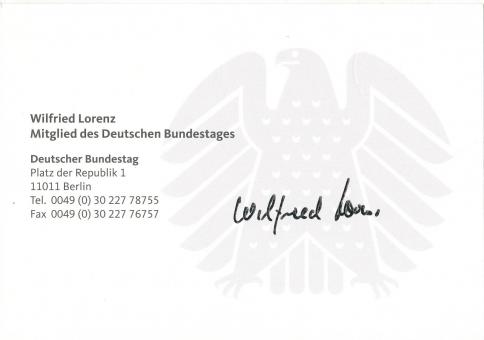 Wilfried Lorenz  Politik  Autogrammkarte original signiert