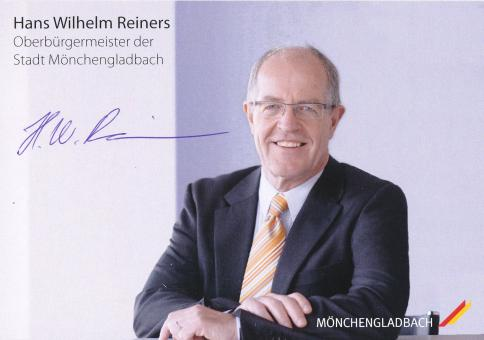 Hans Wilhelm Reiners  Politik  Autogrammkarte original signiert