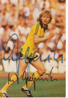 Manfred Burgsmüller † 2019  Ligra Borussia Dortmund Fußball Autogrammkarte  original signiert