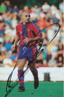 Ivan de la Pena   FC Barcelona  Fußball Autogrammkarte  original signiert