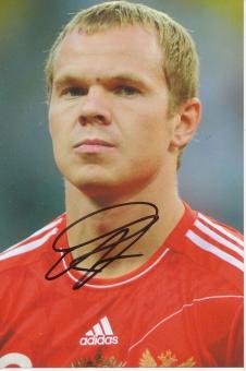 Alexandr Anyukov  Rußland  Fußball Autogramm Foto original signiert