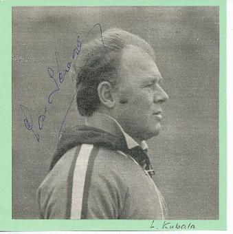 Laszlo Kubala † 2002  FC Barcelona  Fußball Autogramm Bild original signiert