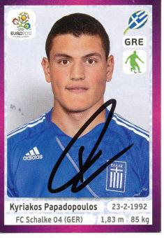 Kyriakos Papadopoulos   Griechenland  EM 2012  Panini Sticker - 10213
