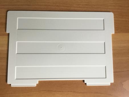 Helit Stellbrettchen für Karteitrog A5 quer lichtgrau, Stützplatte 62013