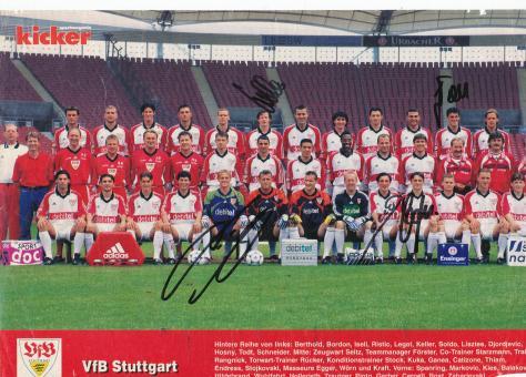 VFB Stuttgart  1999/2000  Mannschaftsbild Fußball original signiert