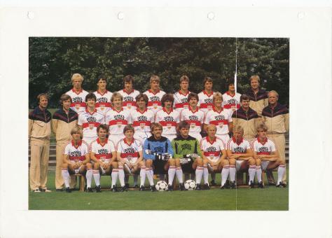 VFB Stuttgart  Mannschaftsbild Fußball original signiert