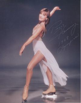 Peggy Fleming  USA  1.OS 1968  Eiskunstlauf  Autogrammkarte original signiert