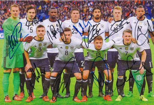 DFB  Nationalteam   Mannschaftsfoto Fußball original signiert