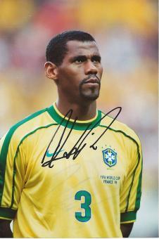Aldair  Brasilien Weltmeister WM 1994  Fußball Autogramm 18 x 26 cm Foto original signiert