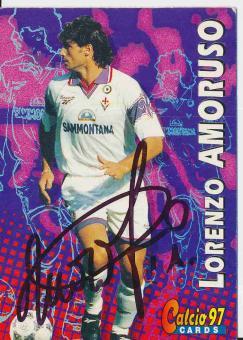 Lorenzo Amoruso  AC Florenz   Trading Card orig. signiert