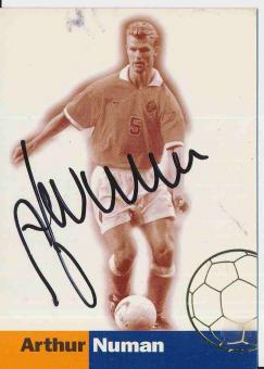 Arthur Numan  Holland  WM 1998  Trading Card orig. signiert