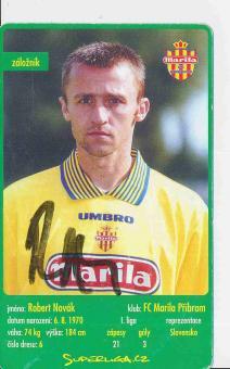 Robert Novak  FC Marila Pribram  Card orig. signiert
