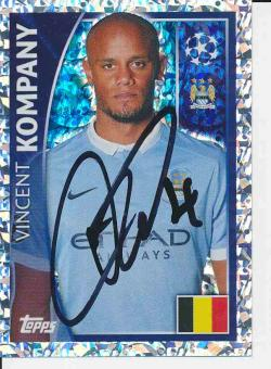 Vincent Kompany Manchester United  Champions League Topps Sticker orig. signiert