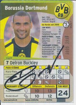 Delron Buckley  Borussia Dortmund  Soccards Bundesliga Fußball original signiert