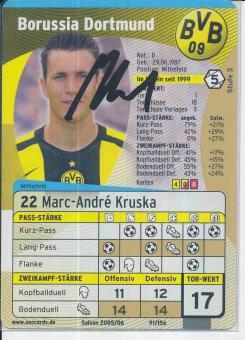 Marc Andre Kruska   Borussia Dortmund  Soccards Bundesliga Fußball original signiert