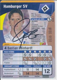 Bastian Reinhardt  Hamburger SV  Soccards Bundesliga Fußball original signiert