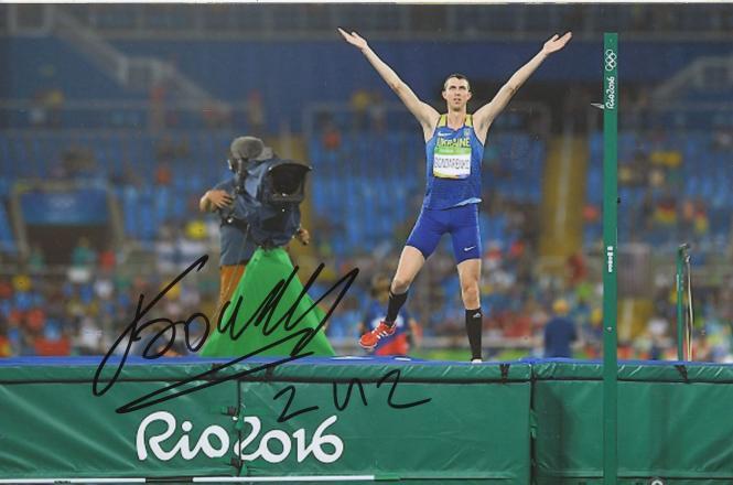 Bohdan Bondarenko  Ukraine  Hochsprung  3. OS 2016  Leichtathletik original signiert