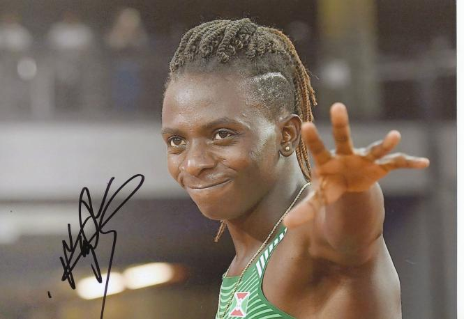 Francine Niyonsaba  Burundi  800m  2.WM 2017  Leichtathletik original signiert