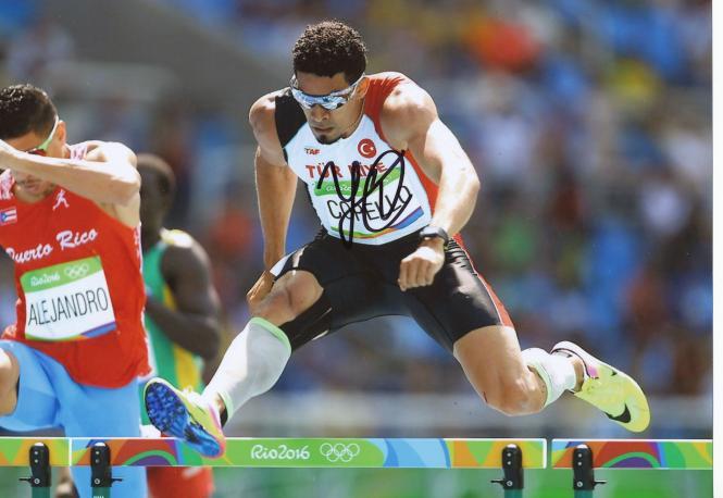 Yasmani Copello  Türkei  400m Hürden  3.OS  2016  Leichtathletik original signiert