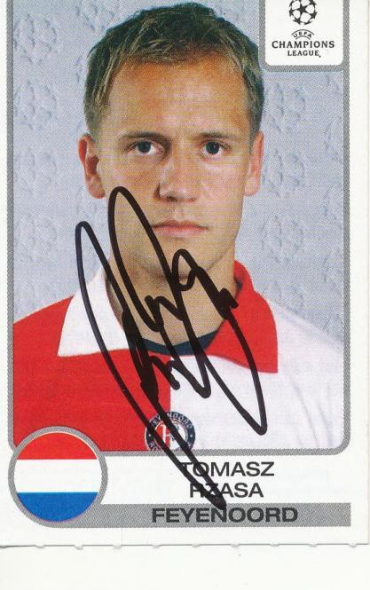Tomasz Rzasa  Feyenoord Rotterdam  Panini CL 2001/2002 Sticker - 10437