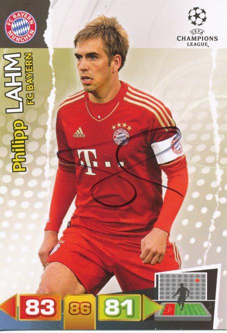 Philipp Lahm  FC Bayern München  Panini CL Adrenalyn 2011/2012 Card- 10516