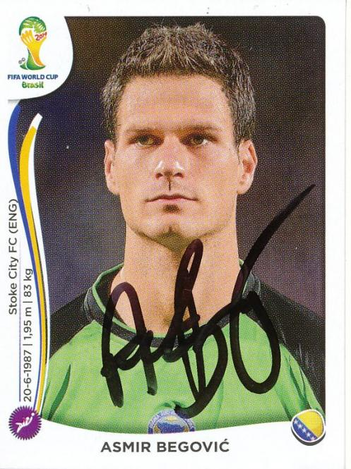 Asmir Begovic   Bosnien   WM 2014 Panini Sticker - 10526