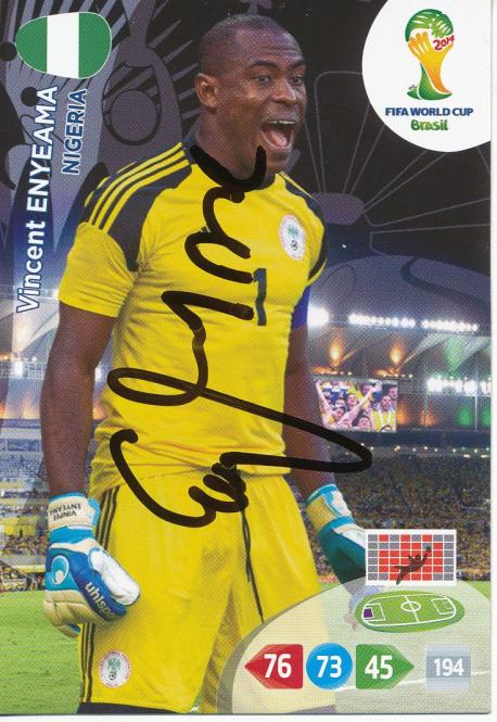 Vincent Enyeama   Nigeria  Panini WM 2014 Adrenalyn Card - 10599