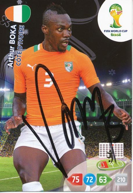 Arthur Boka   Elfenbeinküste  Panini WM 2014 Adrenalyn Card - 10602